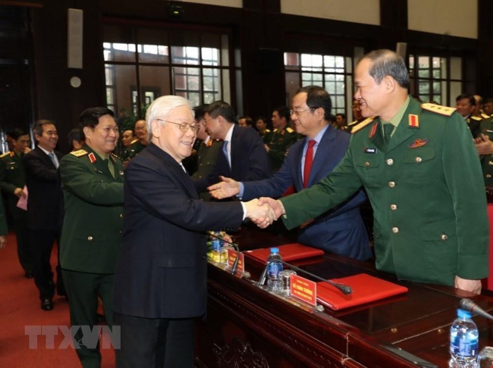 Hình ảnh Tổng bí thư, Chủ tịch nước dự Hội nghị Quân chính toàn quân