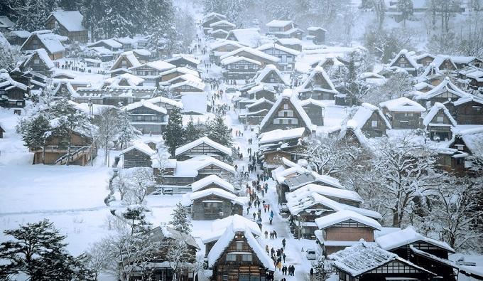 Nhật Bản,Làng cổ,Du khách