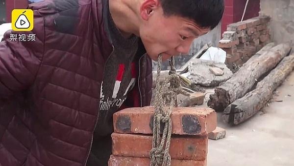 bại não,nâng gạch,Trung Quốc
