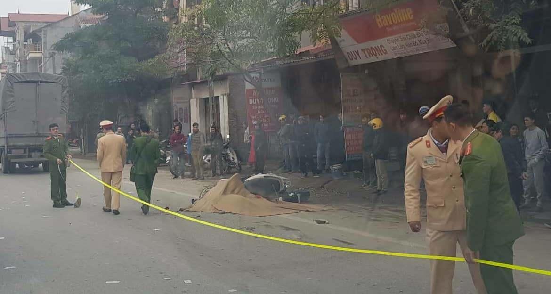 Bị xe tải tông từ phía sau, người phụ nữ tử vong tại chỗ