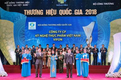 Vifon được vinh danh Thương hiệu quốc gia 2018