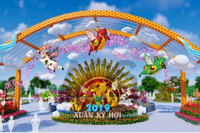 Đẹp ngỡ ngàng Lễ hội hoa xuân Sun World Halong Complex