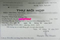 Thư mời họp phụ huynh 'kỳ quái' gây bức xúc ở TP.HCM