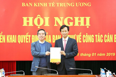 Ban Bí thư bổ nhiệm thêm một Phó trưởng Ban Kinh tế Trung ương