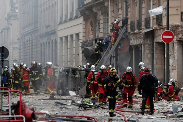nổ lớn,Paris,Pháp,rò rỉ khí gas,nổ rung chuyển thủ đô Pháp