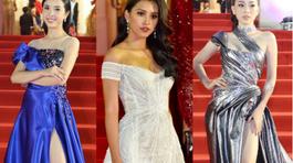 Hoa hậu, Á hậu khoe chân dài gợi cảm trên thảm đỏ Mai Vàng
