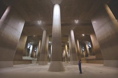 Hệ thống chống ngập khổng lồ dưới lòng đất của Nhật
