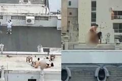 'Ân ái' trên sân thượng, cặp đôi còn hồn nhiên làm điều này
