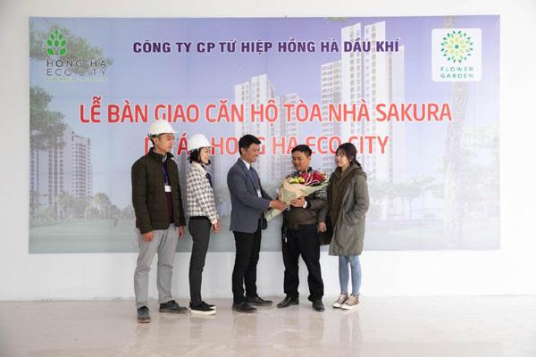 Cư dân Hồng Hà Eco City nhận nhà đón Tết