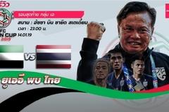 Thái Lan tự tin giành vé vòng 1/8 Asian Cup 2109