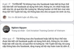 Đăng status kiểm soát thông tin cá nhân trên Facebook là trò lừa đảo