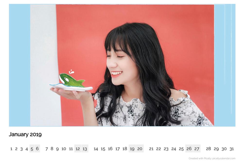 Cách tạo lịch năm mới 2019 từ ảnh chính bạn trên iOS và Android