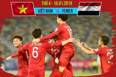 Link xem trực tiếp Việt Nam vs Yemen, 23h ngày 16/1
