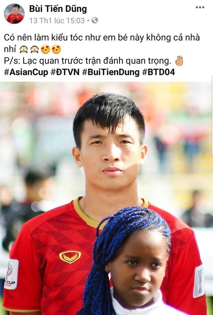 Hình ảnh 'ngọt ngào' của cầu thủ Đình Trọng - Tiến Dũng