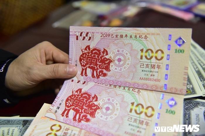 Nửa triệu đồng một tờ tiền mừng tuổi 2 USD in hình lợn vàng
