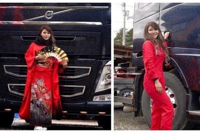 Gặp nữ tài xế xe tải xinh đẹp nổi tiếng châu Á