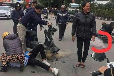 CSGT TP Thanh Hóa lên tiếng vụ quăng lưới một học sinh bị tai nạn