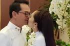 Vợ kém 18 tuổi hôn NSND Trung Hiếu đắm đuối trong ngày cưới