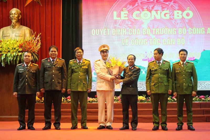 Trao quyết định nhân sự của Bộ trưởng Công an tại Hà Nội, Hoà Bình