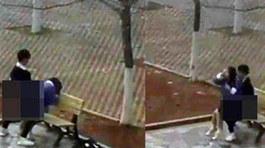 Đôi sinh viên TQ yêu đương nóng bỏng trong vườn trường gây phẫn nộ