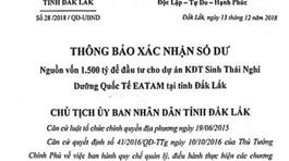 Giả mạo văn bản của Chủ tịch tỉnh về dự án 1.500 tỷ đồng