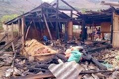 Chồng châm lửa đốt nhà, vợ chết cháy thương tâm