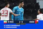 Iran 2-0 Oman: Thế trận một chiều (H2)