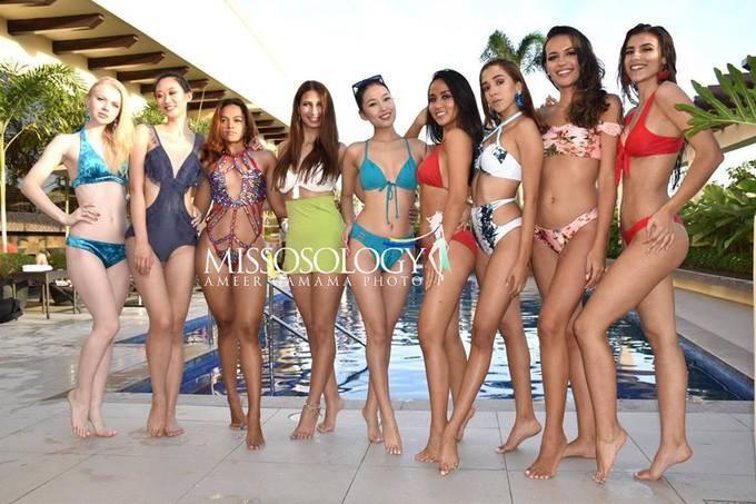 Ngân Anh gây tranh cãi khi diện nội y giữa dàn người đẹp mặc bikini