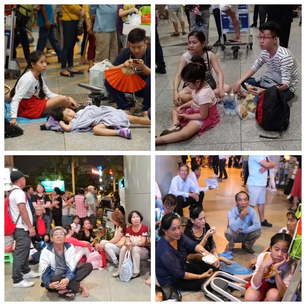 Việt kiều về ăn tết, '10 đón 1' sân bay Tân Sơn Nhất chật cứng người