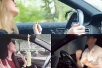 Loạt sao Việt bất chấp nạn 'xe điên', lái xe giữa đường như chốn không người