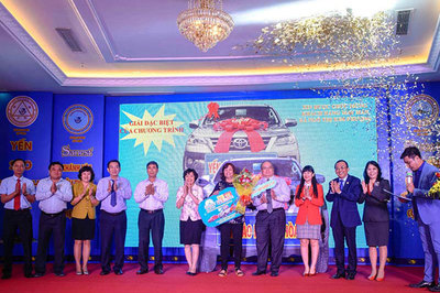Giải thưởng Sanest Khánh Hòa: Một khách hàng tại TP. Nha Trang trúng ô tô Fortuner