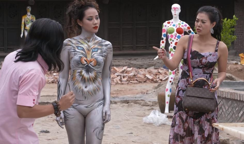 Quang Tèo và mẫu nude body painting gây phản cảm trong hài Tết: Sự thật ngã ngửa