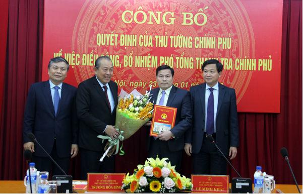 Thanh tra Chính phủ,Trương Hòa Bình,nhân sự,Phó tổng Thanh tra
