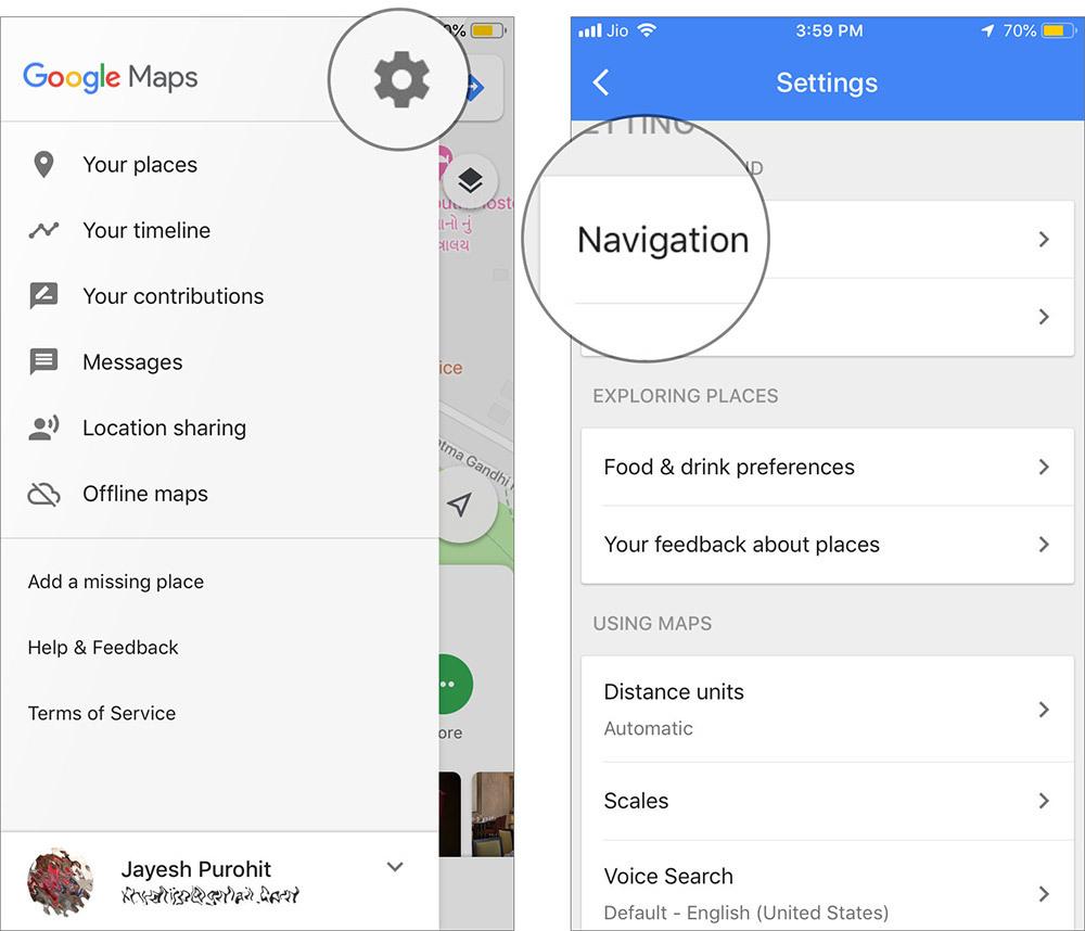 Cách tăng âm lượng chỉ đường của Google Maps