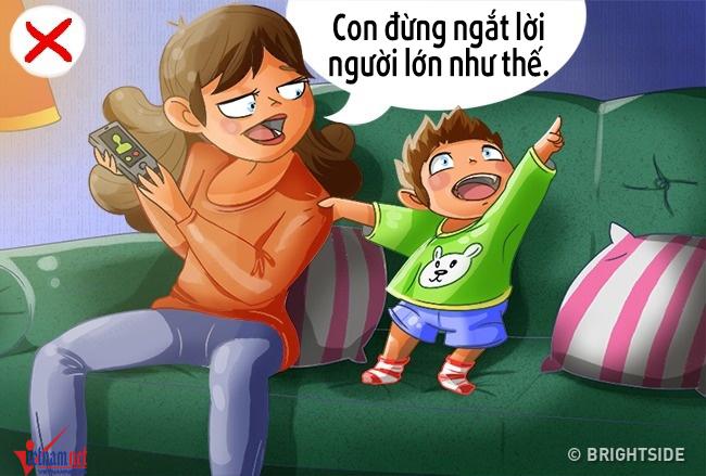 Sai lầm của cha mẹ tạo thói quen xấu cho con