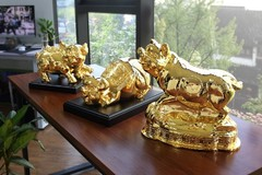 Phòng khách đón Tết Kỷ Hợi: Có nên trang trí hình heo vàng hay không?