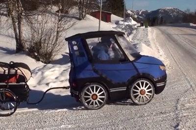 Hài hước chiếc xe đạp 'ngụy trang' thành xe ô tô