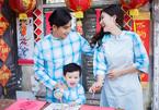 Quý tử nhà Ngọc Lan – Thanh Bình tinh nghịch chụp ảnh Tết cùng bố mẹ