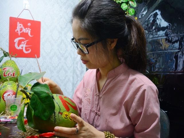 Ngỡ ngàng dừa, bưởi 'lên đời' hút khách dịp Tết