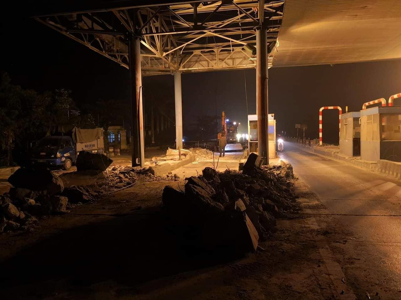 在Tet之前在10号高速公路上清理Tan De BOT收费站