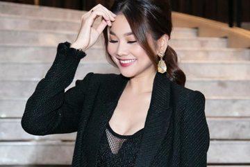 Thanh Hằng mặc gợi cảm hát hit Mỹ Tâm