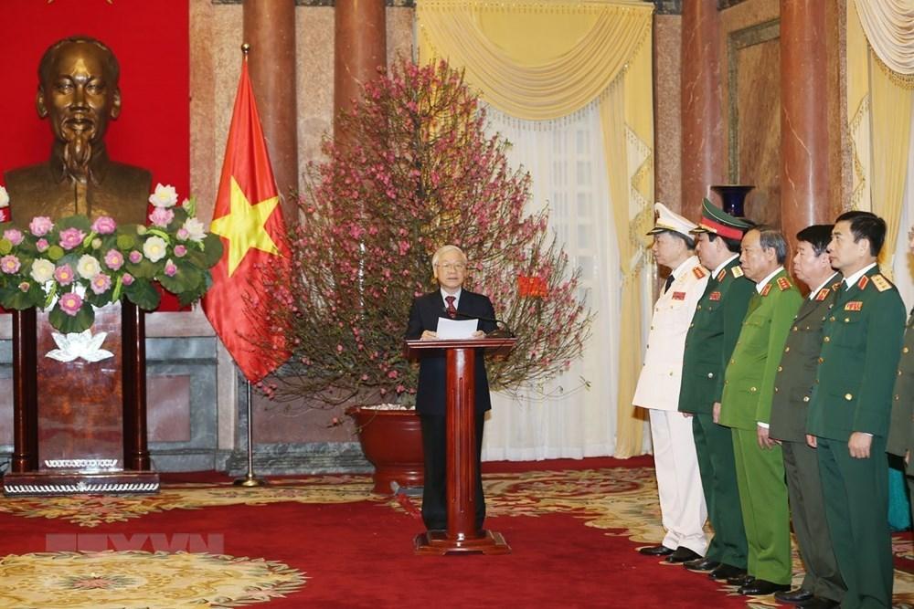 Hình ảnh phong quân hàm 2 Đại tướng Tô Lâm, Lương Cường