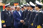 Hình ảnh Thủ tướng thăm, chúc Tết Bộ Tư lệnh Quân chủng Hải quân