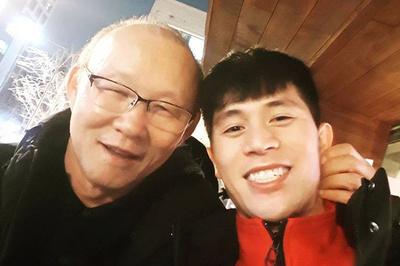 Đình Trọng rưng rưng khi thầy Park đến thăm tại Hàn Quốc