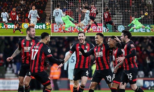 Chelsea thua tan nát trên sân Bournemouth