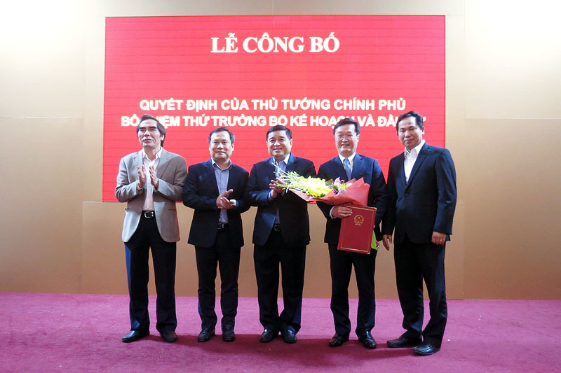 bổ nhiệm,nhân sự,Bộ Kế hoạch và đầu tư,Nguyễn Chí Dũng