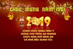 Cách tự tạo thiệp chúc mừng năm mới 2019 độc đáo