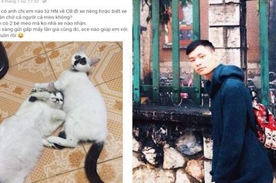Nam thanh niên thuê xe sang chở mèo cưng về quê ăn Tết