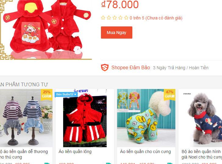 Bốn triệu đồng 1 bộ áo quần Tết cho chó mèo trưng diện