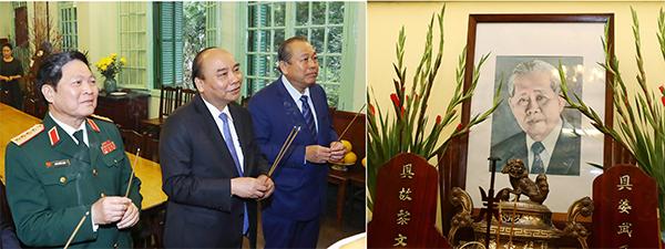 Thủ tướng dâng hương Chủ tịch Hồ Chí Minh và các lãnh đạo tiền bối